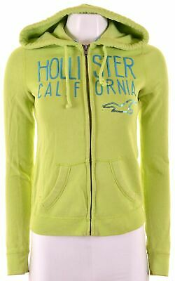 HOLLISTER Womens Hoodie Sweater Size 6 XS Green Cotton  Q107