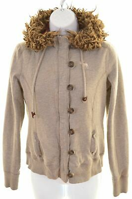 ABERCROMBIE & FITCH Girls Hoodie Sweater 13-14 Years XL Grey Cotton  CN18