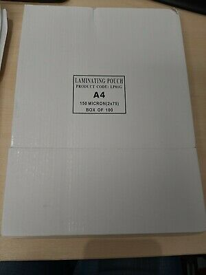 Laminating pouches A4 Pack of 100