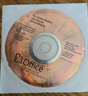 Microsoft Office 2007 Small Business Works 2000 9 99 Picclick Uk
