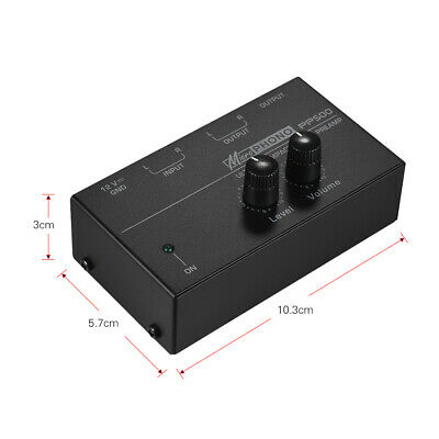 PP500 Preamplifier Volume Controls Phono Preamp Metal Ultra Compact Turntable