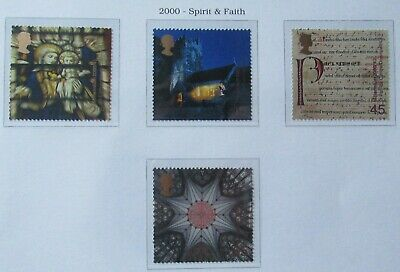 Royal Mail Stamps, Spirit and Faith, 2000. Unmounted Mint