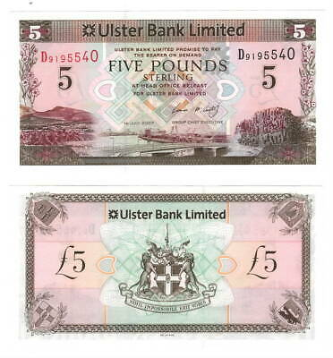 NORTHERN IRELAND Ulster Bank UNC 5 Pounds (2007) P-340a Banknote Paper Money