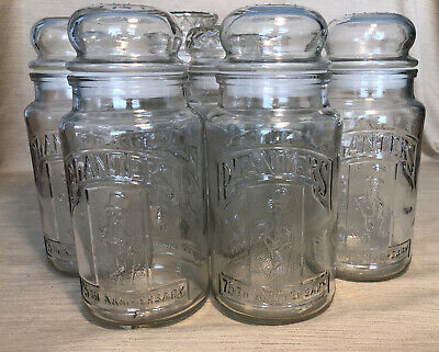 Planters Mr Peanuts: Lot 7 1982, 1983, 1984 & 1981 - 75th Anniversary Glass Jars
