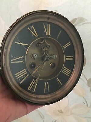 Antique French Clock Open Escapement Slate Movement Pallet/deadbeat (S)