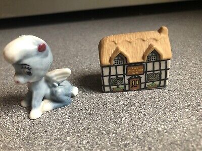 vintage WADE Whimsies - Walt Disney Baby PEGASUS and Whimsey THE WHY KNOT INN