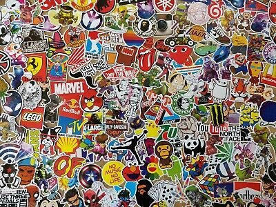 50 Skateboard Stickers Pack - Funny Decal Bomb Hypebeast Laptop - No Repeats