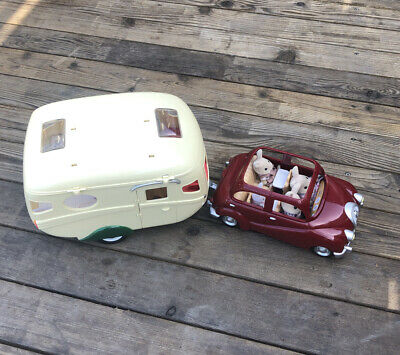 Sylvanian Families Car Caravan Rabbits Accessories