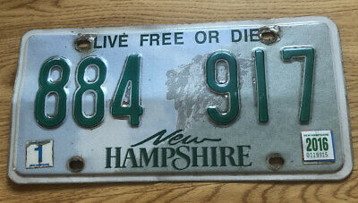 US Nummernschild Kennzeichen USA New Hampshire Licence Plate 884917