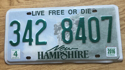 US Nummernschild Kennzeichen USA New Hampshire Licence Plate 342 8407
