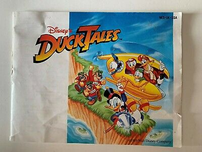 Disney's Duck Tales Nintendo Instruction Manual Booklet NO NES Game