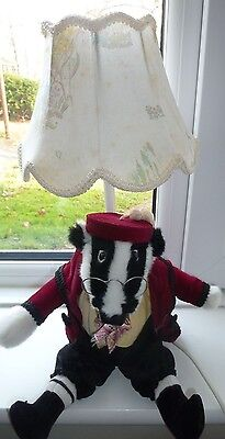 Wind In The Willows Vintage 1988   -   Badger Table Lamp