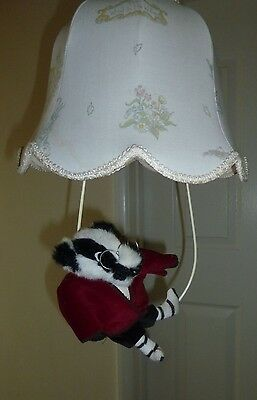 Wind In The Willows Vintage 1988   -   Light Shade And Badger Hanging Attachment