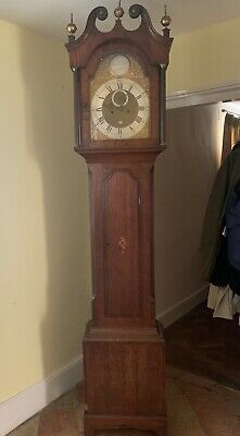 1800's Mahogany Joseph Alder 8 Day Grandfather Clock