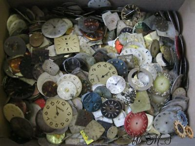 Watch dials faces, set 1200 vintage steampunk supplies watch parts art DIY