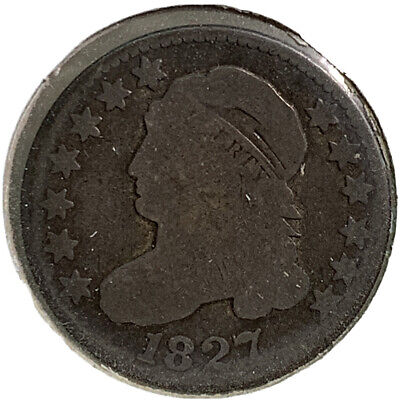 1827 Die Rotation Error Silver Capped Bust Dime 10¢ Cent US Coin SI149