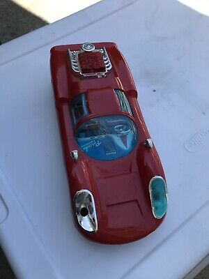 Vintage Band Battery Operated Toy Car Porsche Carrera -Made In Japan-Racing