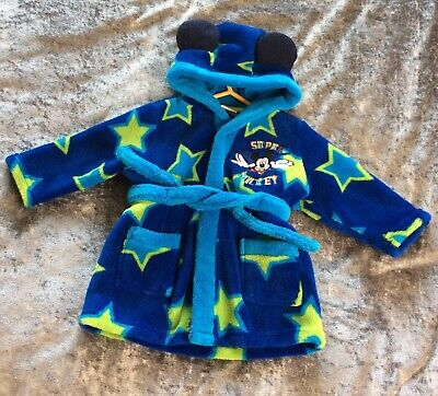 Disney Babies 3 To 6 Months Dressing Gown Mickey Mouse Excellent Condition