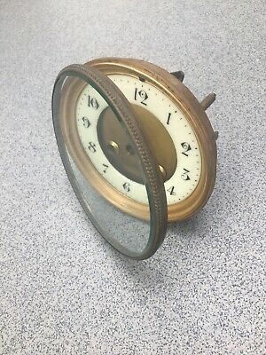Antique French Clock Part Bevelled Glass Dial Centre Plate Grommets Repairs (L)