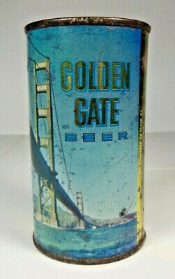 Golden Gate Beer Flat Top Beer Can - Maier Brewing Co - Los Angeles, California