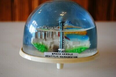 Vtg Snow Dome Globe Souvenir Space Needle Seattle Washington Snowdome Snowglobe
