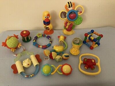 10 Used baby sensory toy bundle High Chair Toys Multicolour