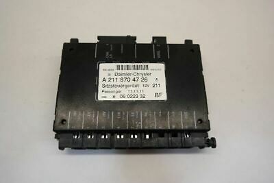 2005-08 Mercedes G Class Right Front Power Seat Control Module 2118704726