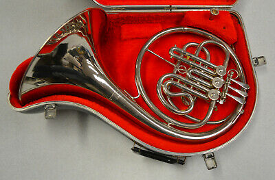 USED CARAVELLE CLASSIC Bb FRENCH HORN. NICKEL PLATED FINISH