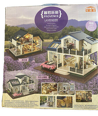 1:24 DIY Miniature Project Wooden Dolls House Furniture Kit -Provence Villa