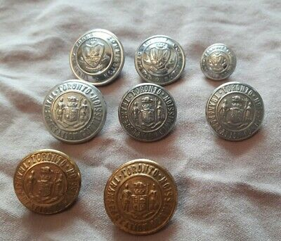 Vintage Toronto Transit Commission (TTC) Assorted Buttons Brass and Silver