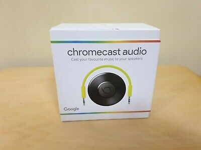 Google Chromecast Audio Wi-Fi Music Streamer -  Brand New in Factory Sealed Box