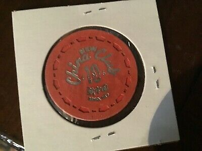 New China Club Reno NV 10-cent casino chip. Iconic small crown mold!
