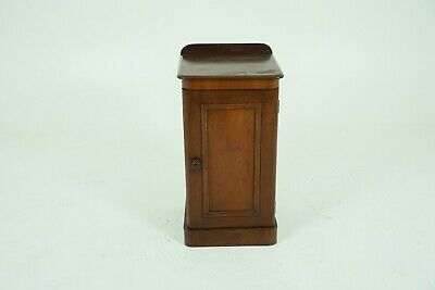 Antique Victorian Nightstand, Walnut Bedside Table, Scotland 1880, B1773
