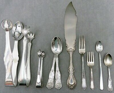 Lovely Group of Antique Silver Plated Items - FREE U.S. SHIPPING!