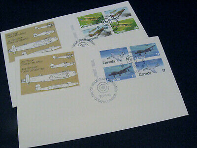 Lot of 2 Canada Stamps  First Day Cover 1980 Airplanes