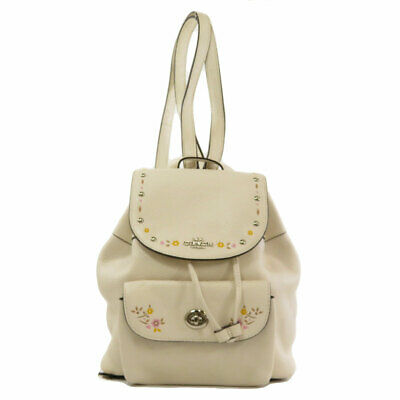 COACH  F25895 Backpack · Daypack Floral touring Leather