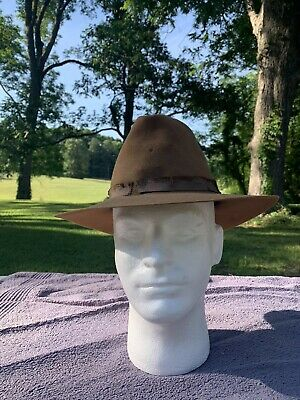Spanish American War Snowflake Vent Campaign Hat Named 2nd Mass