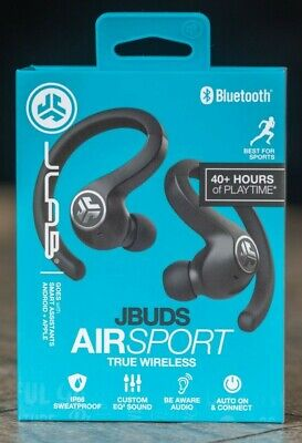 JLab Audio JBuds Air Sport True Wireless Bluetooth Earbuds + Charging Case