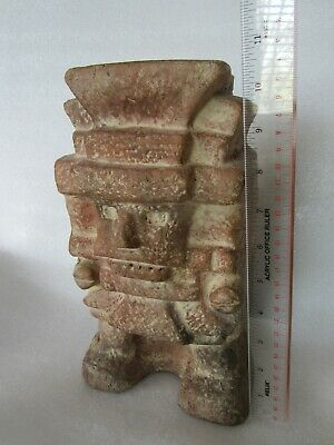 Aztec Mayan Tlaloc Rain God Artifact Ceramic Sculpture Statue 11""