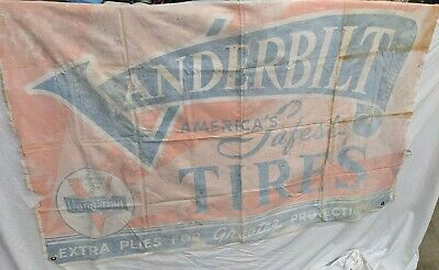 Antique Vanderbilt Tires Cloth banner