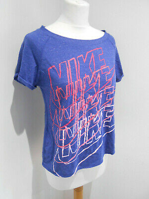 BNWT Nike blue branded front crew neck tshirt top XL Girls 13-15yrs NEW