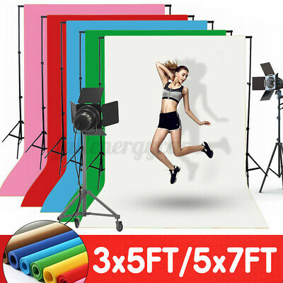 Solid Color Screen Studio Background Photo Video Backdrop Stand Photography Kit