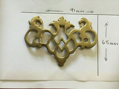 Antique Brass Cabinet Lock escutcheon plates for Cupboard Chest  Vintage
