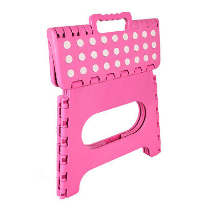 Pink Medium Folding Step Stool MultiPurpose Heavy Duty Home Kitchen Foldable New