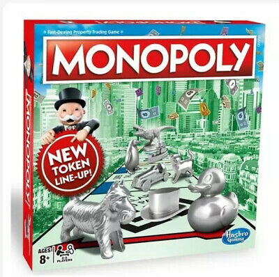 Monopoly Classic Board Game from Hasbro Gaming -new Sealed.