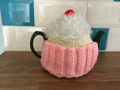 Giant Cup Cake Hand Knitted Tea Cosy / cosie