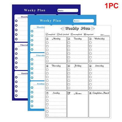 Durable Weekly For Fridge Magnetic Whiteboard Reminder Daily Planner Rewritable