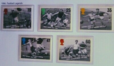 Royal Mail Stamps, Football Legends 1996. Unmounted Mint