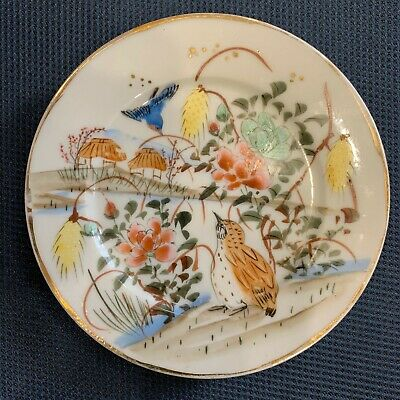 porcelain hand painted antique oriental decorative plate