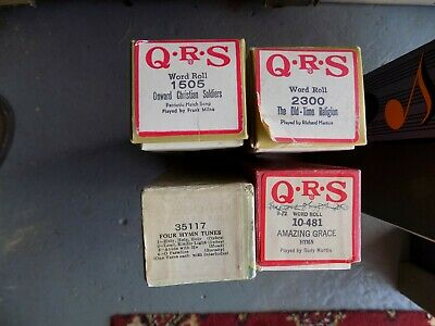 Pianola Piano Rolls  x 4 All are Hymns or Religious Uplifting songs